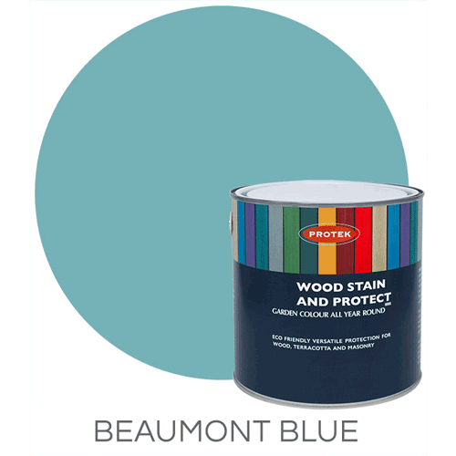 Bee Hive Wood Stain & Protector, Beaumont Blue, 1lt